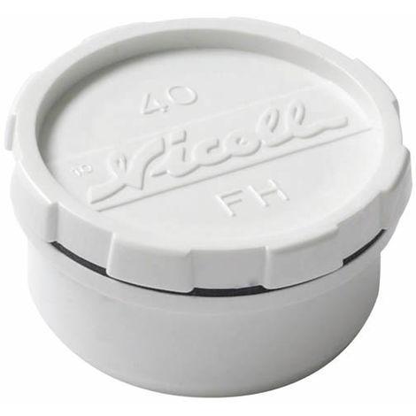 Tampon de visite avec bouchon mf O50 blanc