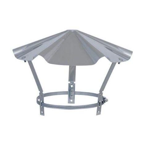 Tampon INOX - Chapeau inox réglable pour sortie de toit - 130 à 167mm