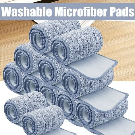 Tampons En Microfibre De Rechange Durables Et Lavables Pour Vadrouille à Poussiere Pour Seau Plat à Vadrouille