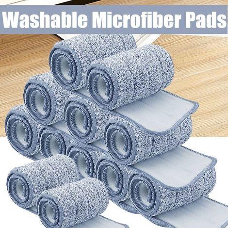 Tampons en microfibre de rechange durables et lavables pour vadrouille à poussière pour seau plat à vadrouille Sasicare