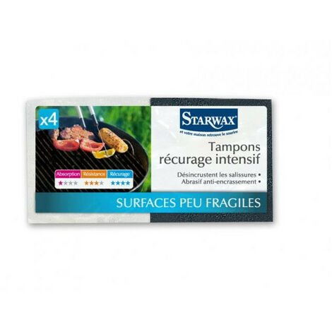 Tampons récurage intensif noirs x4 Starwax