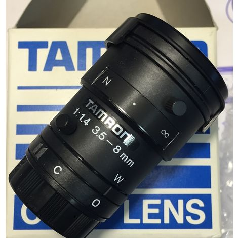 "Tamron 13VM358T1.4 diaphragm Lens manual zoom 1/3"" 3.5-8mm F1.4 CS"