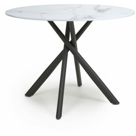 Tanavast White Round Dining Table