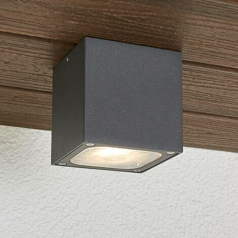 Tanea outdoor cubic LED outdoor ceiling lamp, IP54