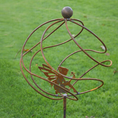 Tangle Ball On 4ft Stem With Sitting Fairy