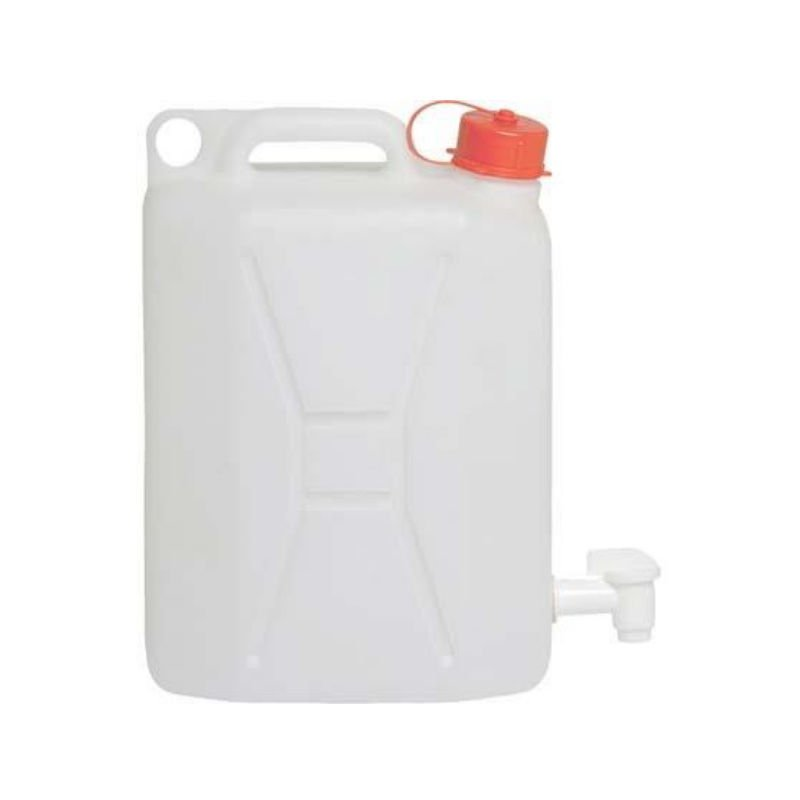 Tanica Taniche in Plastica 20 litri con Rubinetto per Uso Alimentare ICS