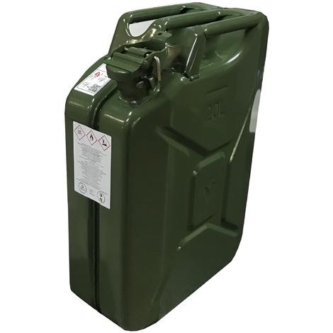 . Tanica nera da 20 litri con beccuccio flessibile diesel benzina per carburante ecc. 20 l//20 l
