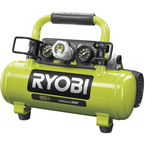 Tank compressor RYOBI 18V One Plus - 4L - Without battery and charger R18AC-0