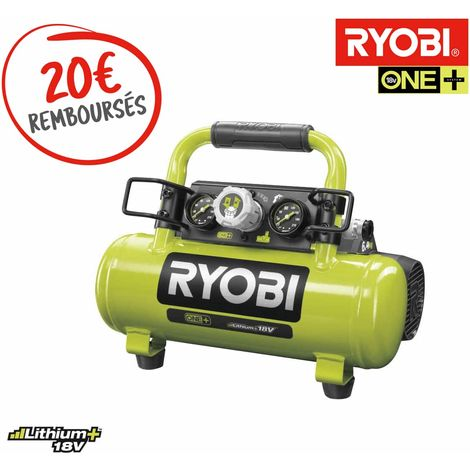 Tank compressor RYOBI 18V One Plus - 4L - Without battery or charger R18AC-0