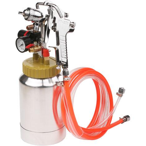 Tanque de olla a presion de 2L, con pistola de pulverizacion de aire y regulador, pulverizador de pintura, el color del anillo de sellado se envia al azar
