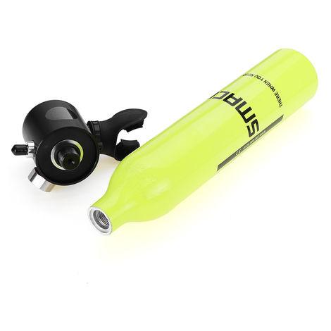 Tanque de oxígeno bajo el agua 0.5L Cilindro de respiración Buceo Equipo de buceo Tanque de aire LAVENTE