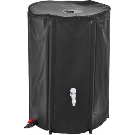 Tanque para el agua de lluvia - 500D PVC Negro - PVC resistente a la oxidación y a los rayos ultravioletas - Capacidad 250 L