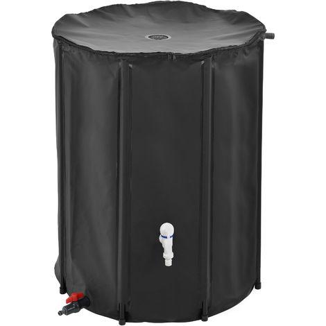 Tanque para el agua de lluvia - 500D PVC Negro - PVC resistente a la oxidación y a los rayos ultravioletas - Capacidad 500 L