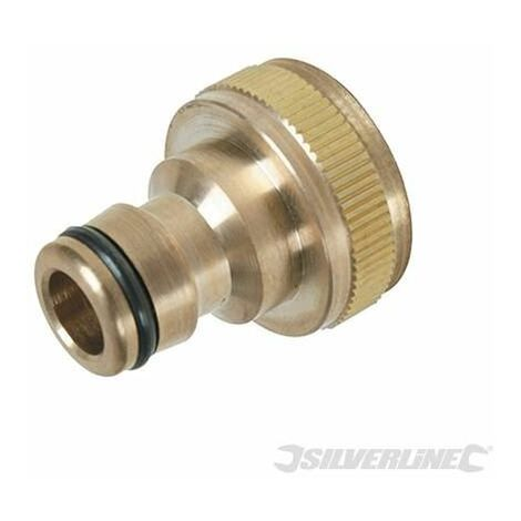 """Tap Connector Brass - 3/4"""" BSP - 1/2"""" Male (598438)"""