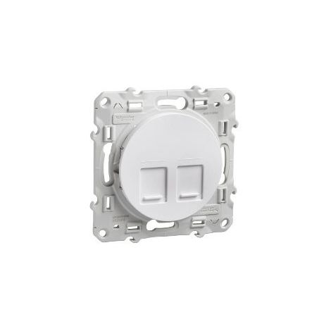 Tapa 2 conectores RJ45 Odace Blanco SCHNEIDER S520410