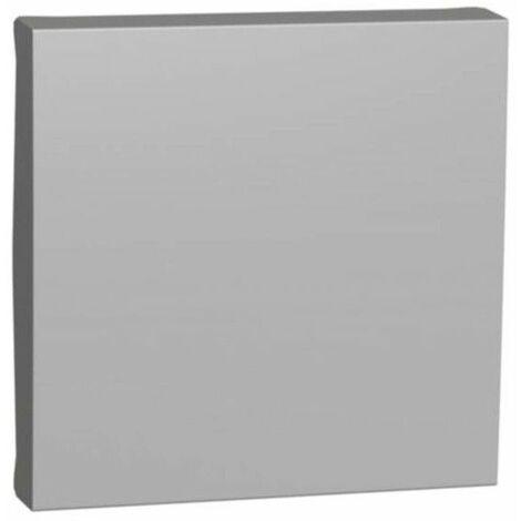 Tapa ancha color aluminio Interruptor / Conmutador / Cruzamiento NU920030 de Schneider