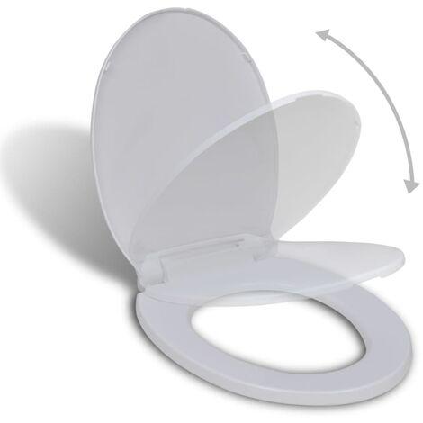 Tapa de inodoro de cierre suave blanca ovalada