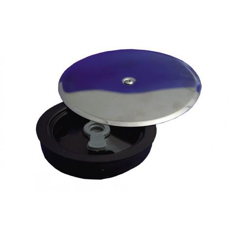 Tapa bote sifonico embell.inox 110mm exp. pvc hidrot