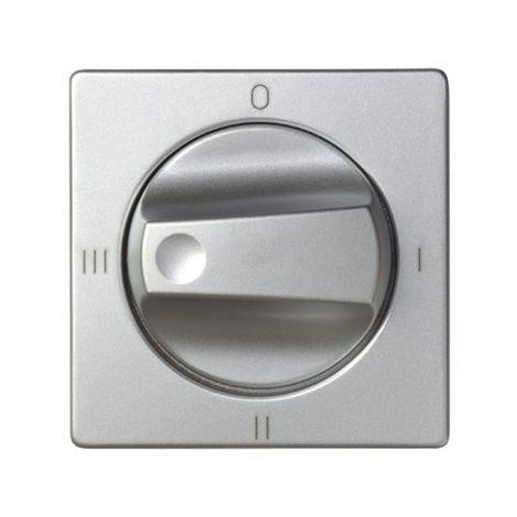 Tapa+boton conmutador rotativo 4 posic. aluminio SIMON 82079-33