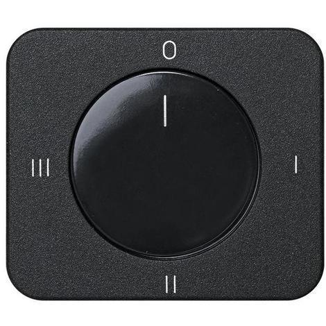 Tapa + Botón Conmutador Rotativo Serie 75 Grafito