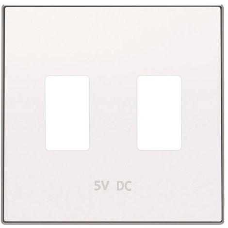 Tapa cargador doble USB blanco soft Niessen Sky 8585.3 BL