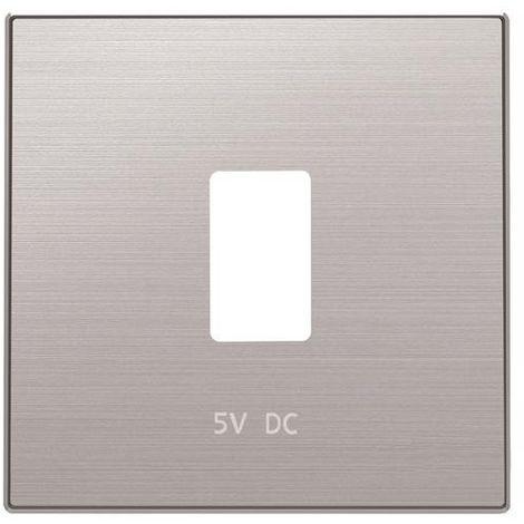Tapa cargador USB acero inox Niessen Sky 8585.2 AI
