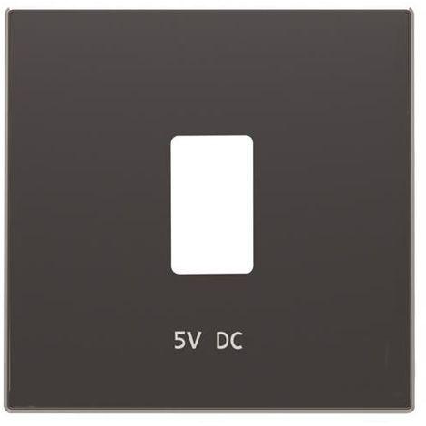 Tapa cargador USB negro soft Niessen Sky 8585.2 NS