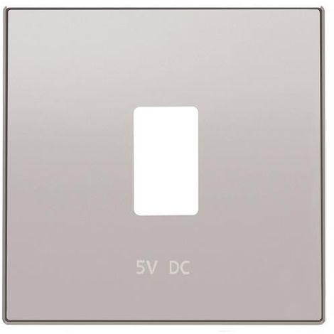 Tapa cargador USB plata Niessen Sky 8585.2 PT