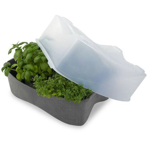 Tapa de Huerto Urbano Translúcida Eco | Efecto invernadero | de Plástico Reciclado | Resistente | Fácil Montaje/Manipulación | Apilable