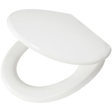 Tapa de inodoro blanca