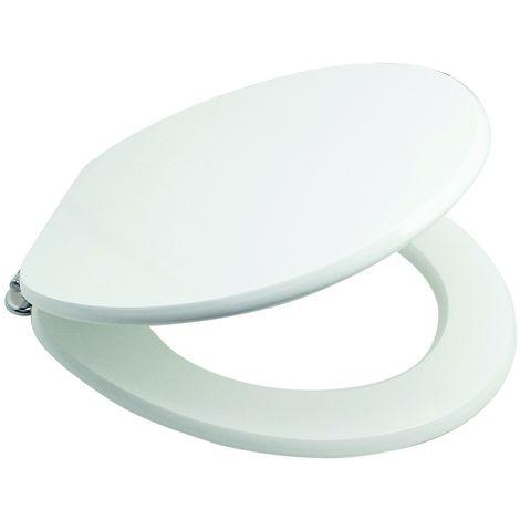 Tapa de inodoro de madera 37,5x43,5 cm con cierre soft close Serie Urban | Blanco