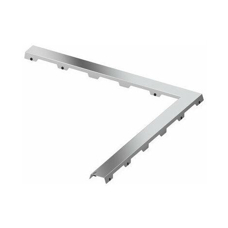 Tapa de la línea de drenaje TECEdrainline de acero II para el canal de ángulo de 90°, 610982, 900mm, pulido. - 610982