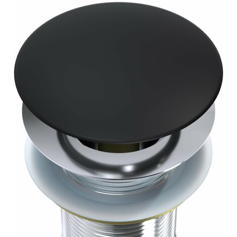 Tapa de rebosadero - cubierta de tapa redonda para sumidero Pop-Up negro mate