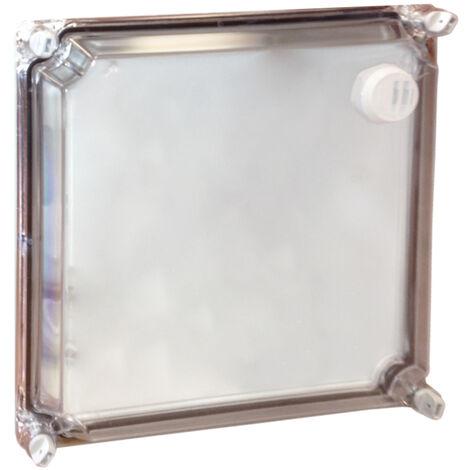 "main image of ""Tapa de repuesto transparente T-CC-22 para caja de contador 30x285x285mm. (CLAVED SN15301)"""