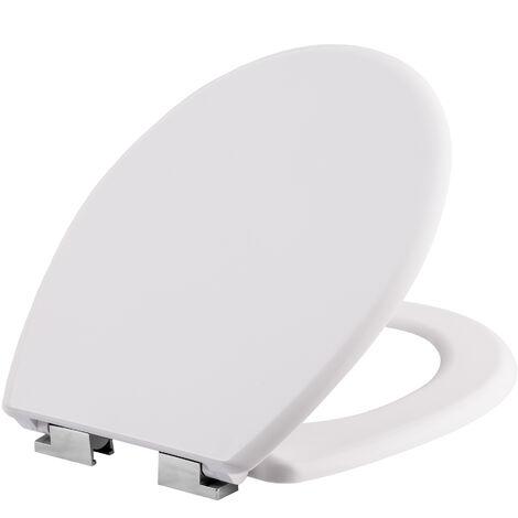Tapa de váter Premium - tapa de wc higiénico, tapa de inodoro para cuarto de baño, asiento y aro de water universal