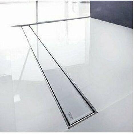 Tapa de vidrio TECEdrainline para canales de ducha rectos, 6008, 800mm, color: Vidrio Blanco - 600891