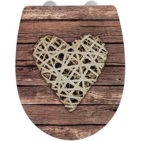 Tapa de WC Curly Heart superficie con relieve