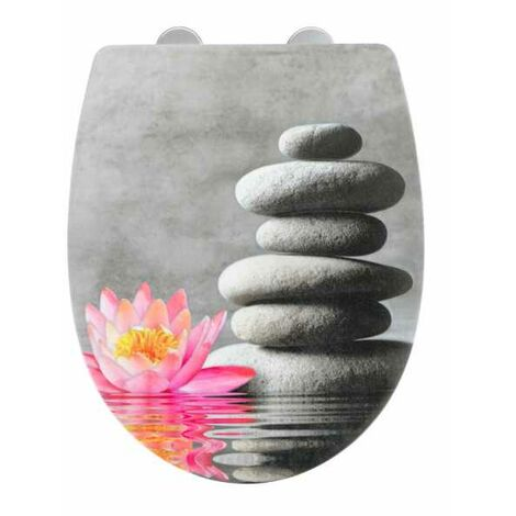 Tapa de WC Water Lily superficie con relieve