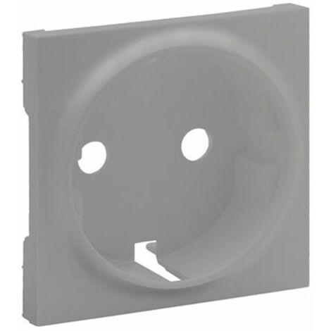 Tapa enchufe 2P+T aluminio Legrand Niloe Step 864320