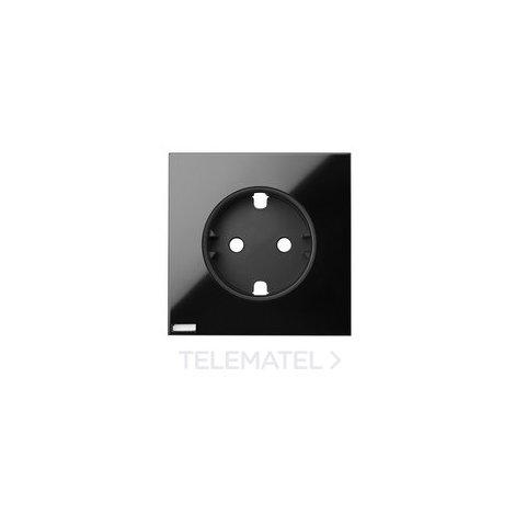 Tapa enchufe HUB IO Serie 100 negro