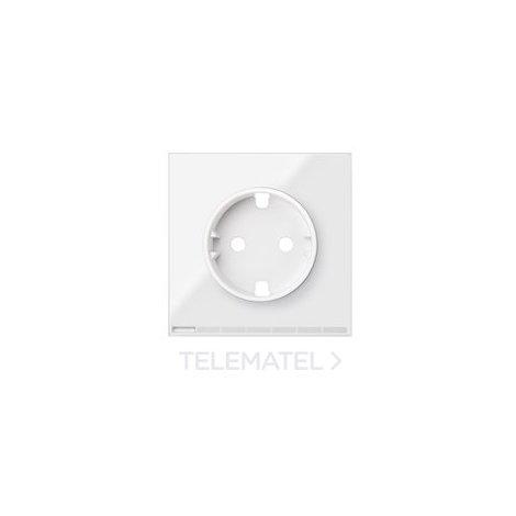 Tapa enchufe IO Serie 100 blanco