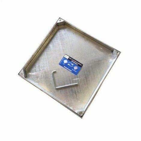 Tapa Fontanero 50X50Cm Hermetica Rellenable Acero Galv B-125 Da