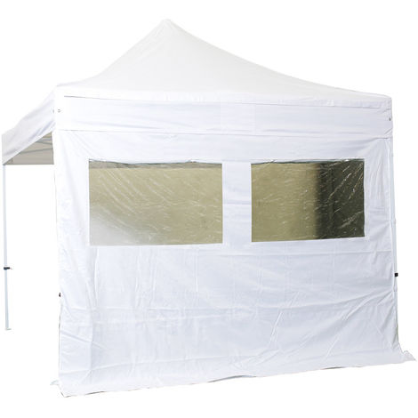 Tapa lateral 2 ventanas con cortina 4m - poliester 300g / m2 - unidad