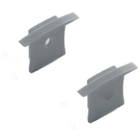 Tapa lateral para perfil de aluminio empotrable en suelo 36x28mm (1ud)