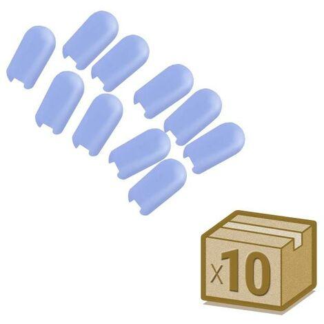 Tapa NEON silicona 6x12mm color azul, interior, pack 10pcs
