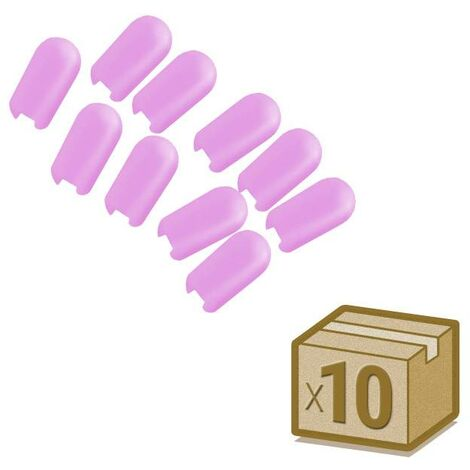 Tapa NEON silicona 6x12mm color rosa, interior, pack 10pcs