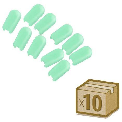Tapa NEON silicona 6x12mm color verde, interior, pack 10pcs