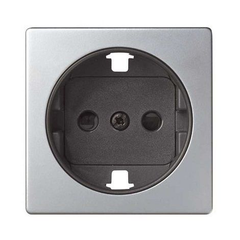 Tapa para base enchufe Schuko Simon 82 Gris
