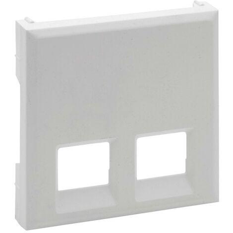 Tapa para base informatica doble Legrand 864143 serie Niloe Step Blanco Mate