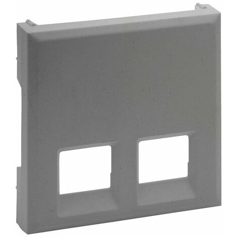 Tapa para base informatica doble Legrand 864343 serie Niloe Step Aluminio